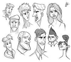 Random faces #sketches#photoshop#wacom#digital#characterdesign#character#diseñodepersonajes#faces#tablet#art#draw#myart