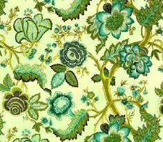 Amy Butler Soul Blossoms Voile Night Tree (Lime Peel)