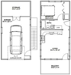 16x32 Tiny House -- #16X32H13A -- 647 sq ft - Excellent Floor Plans