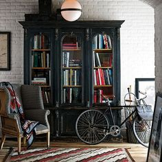 Victorian Glass-Fronted Bookcase