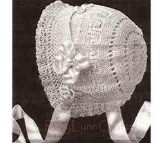 Classic Beauty Crochet Baby Bonnet Hat Cap Vintage by RoxyLynn2, $4.95