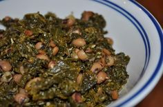1 bag Trader Joe's frozen kale, 2 cans black-eyed peas, 1/2 pkg of maple bacon chopped in to bite size pieces.  Throw it in a crockpot on high for 5 hours or low for 8.  It is ugly...but SO delicious.  I invented this recipe for New Year's as Black-eyed peas and kale are eaten for prosperity in the coming year.  I hope you like it.   -Julia Nanigian