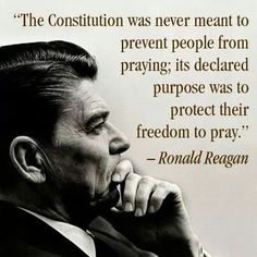 President Reagan knew the importance of Religious Freedom.