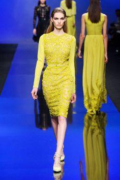 A citrus infusion at Elie Saab Fall 2013 #runway #fashionweek