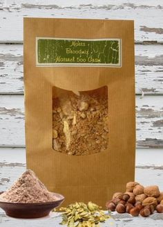 Een mix voor brood van noten, zemelen en zaden