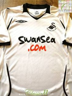 Official Umbro Swansea City home football shirt from the 2008/2009 season.