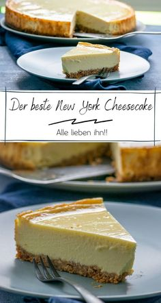 Original New York Cheesecake – cremig und abgöttisch lecker The original New York cheesecake is the most popular cheesecake here, it tastes so incredibly good and can also be prepared in the Thermomix. It tastes a lot like Starbucks. Cheesecake Thermomix, New York Cheesecake Rezept, Homemade Cheesecake, Cheesecake Recipes, Cookie Salad, The Cheesecake Factory, Cheesecake Original, Classic Cheesecake, Newyork Cheesecake