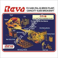 Fly Ash Brick Machine Manufacturer, Fly Ash Brick Making Machine, Exporter and Supplier Fly Ash Bricks, Industrial Machine, Water Spray, Making Machine, Raw Materials, The Cure, Plants, Engineering, Raw Material