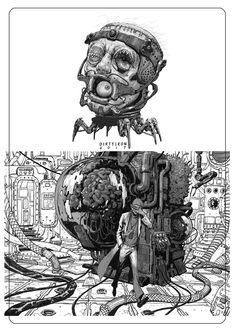 Alita Battle Angel Manga, Apocalypse Art, Samurai, A Level Art, Cyberpunk Art, Ghost In The Shell, Comic Tutorial, Dieselpunk, Dark Art
