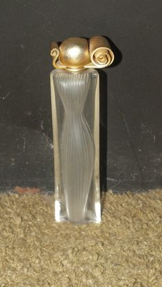 Buy Perfume Bottle - Organza - Givenchy Paris - Frosted Ribbed Silhout - Empty - Collectablefor R220.00