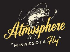 Atmosphere designed by Philip Eggleston. Connect with them on Dribbble; the global community for designers and creative professionals. Types Of Lettering, Lettering Design, Hand Lettering, Branding Design, Logo Design, Minneapolis, Iowa, Typo Poster, Fish Logo