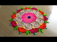 How to make easy and simple rangoli designs/innovative and awesome rangoli designs by jyoti Rathod Rangoli has a unique place in Indian culture, Rangoli is a. Simple Rangoli Border Designs, Rangoli Simple, Indian Rangoli Designs, Rangoli Designs Latest, Rangoli Designs Flower, Small Rangoli Design, Colorful Rangoli Designs, Flower Rangoli, Beautiful Rangoli Designs
