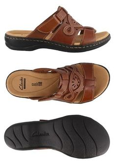 e977407a4dbc Sandals 62107  Clarks Leisa Higley Slide Leather Womens Sandal Low Heel  Shoes Low Heel -