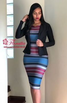 EXECUTIVA - Floratta Modas Classy Work Outfits, Chic Outfits, African Fashion Dresses, African Dress, African Traditional Dresses, Business Dresses, Professional Outfits, Modest Wear, Style
