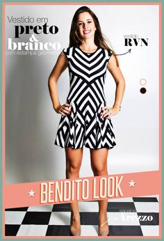 Bendito Look - Vestido p&b estampa geométrica - Bendita Inspiração #vestido #dress #style #fashion #look #print #estampa #geometrica #p&b #blackandwhite #lookdodia