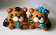 Tiger Wedding Cake Topper by fliepsiebieps1, via Flickr