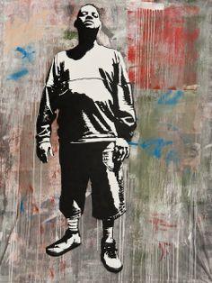 Blek le Rat street artist and art ... Paris