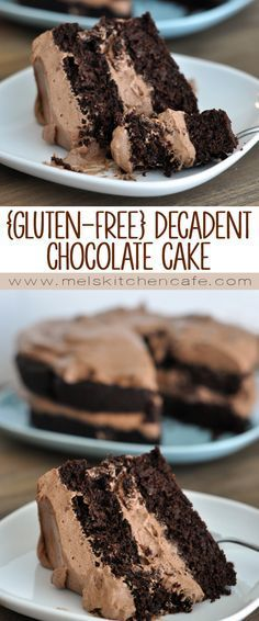 gluten-free decadent chocolate cake with whipped chocolate frosting is unbelievably delicious.This gluten-free decadent chocolate cake with whipped chocolate frosting is unbelievably delicious. Gluten Free Deserts, Gluten Free Sweets, Gluten Free Cakes, Foods With Gluten, Gluten Free Baking, Gluten Free Frosting, Gluten Free Recipes Kale, Vegan Recipes, Delicious Recipes