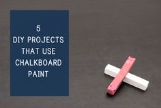 5 DIY Projects That Use Chalkboard Paint #apartmentrentalnews #diy