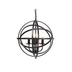 Globe Type: 4 x E14 LED Max 10W Excluded Diameter: 460mm Chain length: 600mm Colour: Black Lighting Warehouse, E14 Led, Chandelier, Indoor, Ceiling Lights, Interior, Type 4, Colour Black, Globe