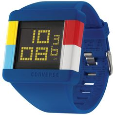 Converse High Score digital watch - Pac Man colorway - Blue, Yellow, Red, White