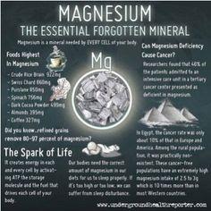 Magnesium: The Essential Forgotten Mineral
