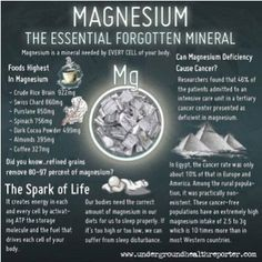 Magnesium - The essential forgotten mineral.