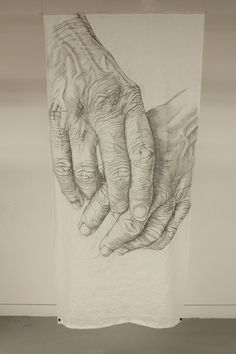 Highly Detailed Drawings of Aging Hands -
