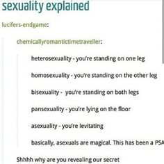 ASEXUALS ARE MAGIC I KNEW IT