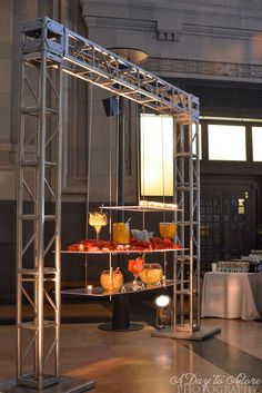 A hanging buffet line adds a modern twist in this historic Kansas City venue.