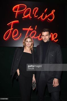 Olivia Palermo and Johannes Huebl attends 'Paris Je T'aime' party - Dolce & Gabbana on March 6, 2016 in Paris, France.