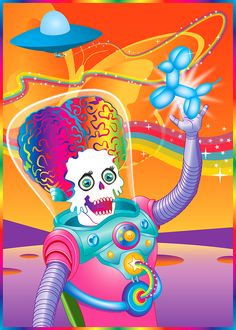"""Created entirely in Adobe Illustrator, this project was for Digital Illustration class at CSUF, and the concept was """"Movie monster in the style of Lisa Frank. Trendy Wallpaper, Cool Wallpaper, Lisa Frank Stickers, Rose Gold Paper, Black And White Flowers, Book Sculpture, Architecture Tattoo, Wallpaper Iphone Disney, Rainbow Art"""