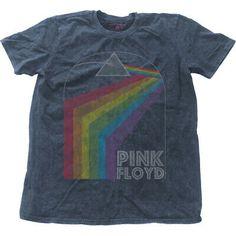 Junk Food Mens Pink Floyd Blue// White Raglan T-Shirt UK Rock Band Dark Side Moon