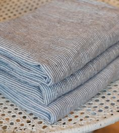 French Linen Striped Pillowcase from Alder Co.