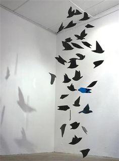 Black paper birds