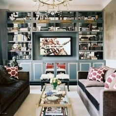This is not your typical media space. How about some glamour to go with your lounging?