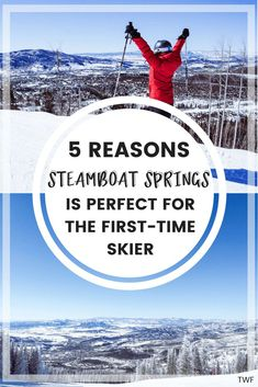 5 Reasons Steamboat Springs is Perfect for the First-Time Skier Colorado Winter, Skiing Colorado, Colorado Trip, Best Vacations, Vacation Trips, Ski Trips, Steamboat Springs Skiing, Steamboats, Travel Tips