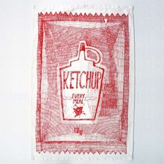 Loads Of Ketchup Tea Towel