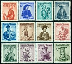 Austria Stamps - Definitives of Vienna Woods, One Republic, Ebay Auction, Stamp Collecting, Postage Stamps, Austria, Onerepublic, Stamps
