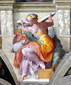Sixtinische Kapelle, Michelangelo, Libysche Sibylle (Libyan Sibyl) by HEN-Magonza, via Flickr