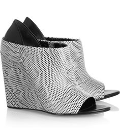 Shoe of the moment: snake-effect leather wedges by Alexander Wang
