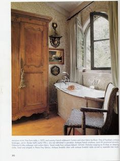 french country bath, pure romance