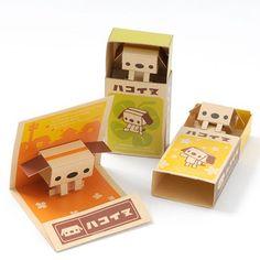 Hakoinu Pop-up Matchbox Papercraft Kit