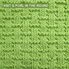 Basketwave - Pattern 4 - knitting in the round | Knit - Purl stitches