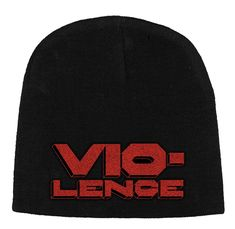 Vio-lence Logo Embroidered Beanie Hat Heavy Metal Bands, Logo Color, Beanie Hats, Logos, Sleeves, Colour Black, Men, Music, Products