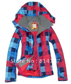 $125.68 Roxy Free shipping 2013 womens colorful grid snowboarding jacket waterproof ski jacket for women ski suit skee anorak skiwear parka-in Jackets from Apparel & Accessories on Aliexpress.com