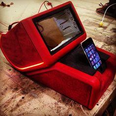 custom interior custom console ipod dock kenwood double din radio caddy customs |