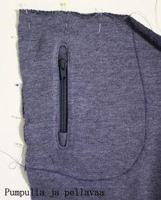pocket with a zipper