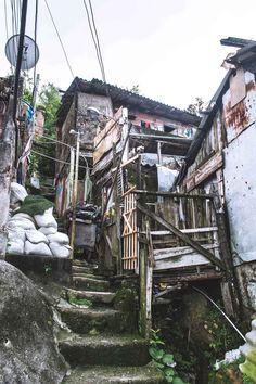 Some of the original dwellings in Favela Santa Marta, Rio de Janeiro   heneedsfood.com