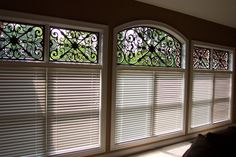 Faux Iron Transom Window Treatment | Flickr - Photo Sharing! MASTER BEDROOM